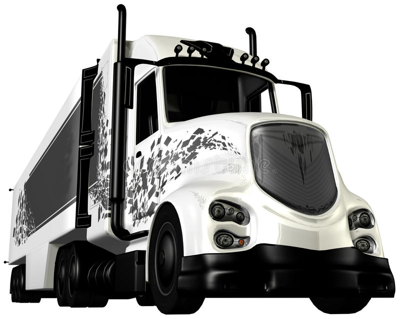 Tractor Trailer Cab 18 Wheeler vector illustration