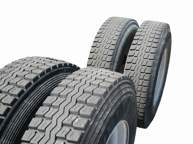 Tractor Trailer Tires royalty free stock image