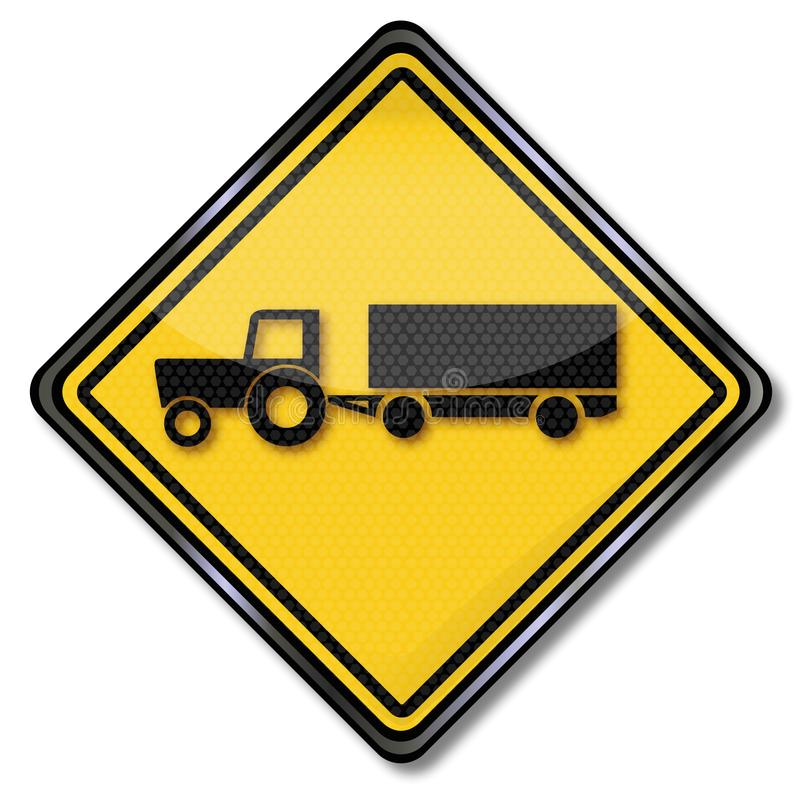 Tractor with trailer. And harvest stock illustration