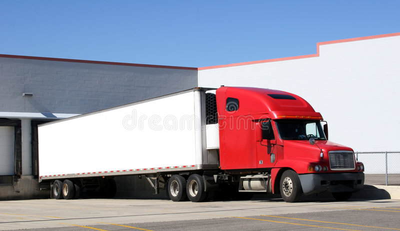 tractor trailer truck obrazy royalty free