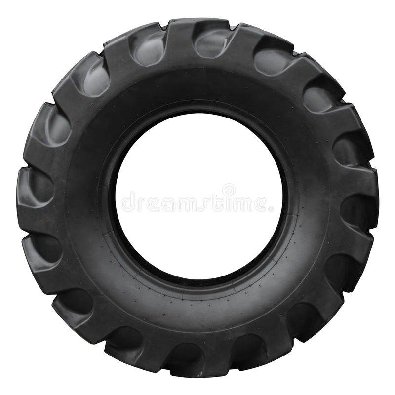 Tractor tyre stock photo