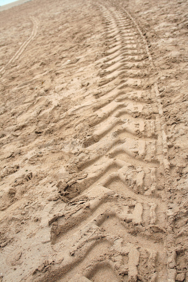 Download Tractor Tyre print stock photo. Image of beach, tyre, print - 695782