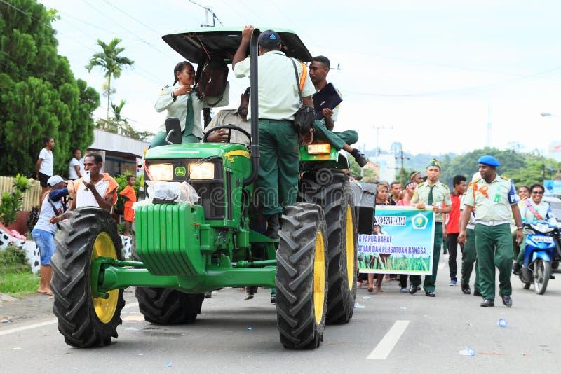 Tractor van Landbouwuniversiteit in Manokwari royalty-vrije stock afbeeldingen