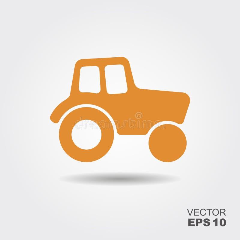 Tractor vector icon. Tractor Icon. Vector Illustration in flat style stock illustration