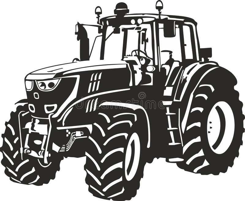 Tractor. Vector illustration of an tractor