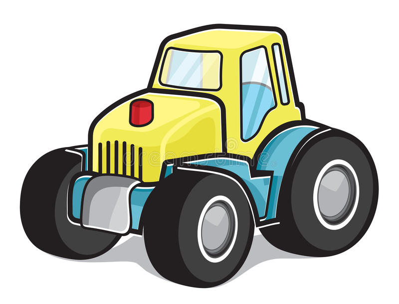 Tractor. Vector illustration of the working machine, the tractor stock illustration