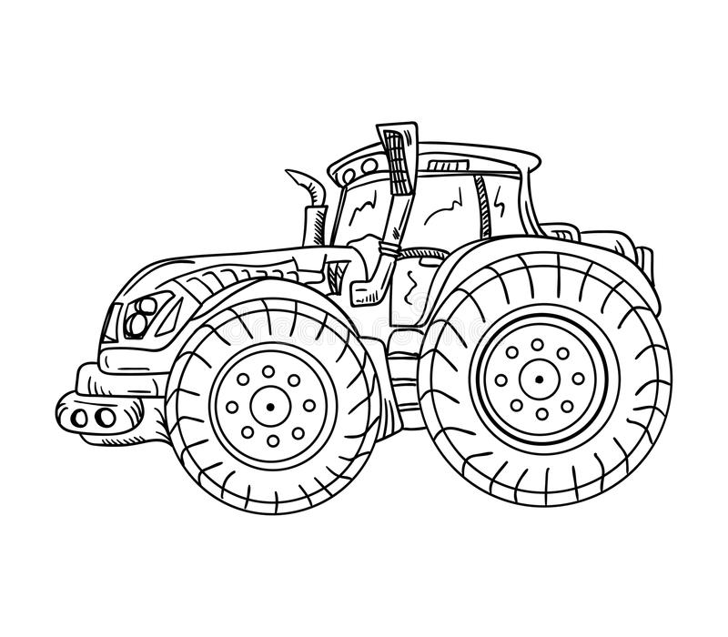 Tractor. Vector - isolated on background - tractor royalty free illustration