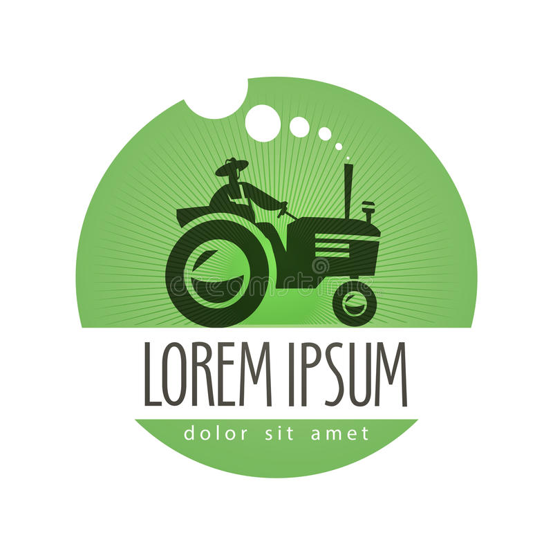 Free Tractor Vector Logo Design Template. Farm Or Royalty Free Stock Images - 49646389
