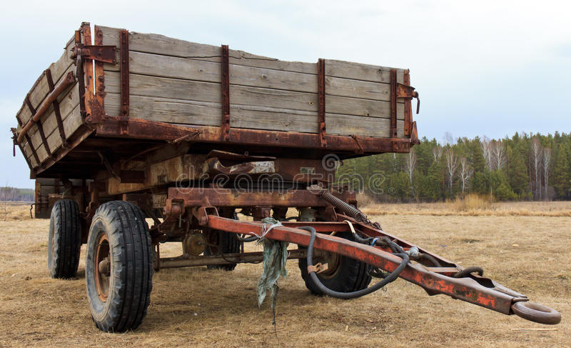 Download Tractor wagon stock image. Image of empty, landscape - 25960605