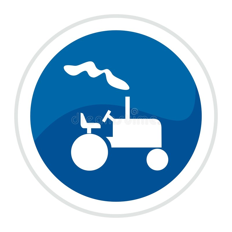 Free Tractor Web Button Royalty Free Stock Image - 8598306