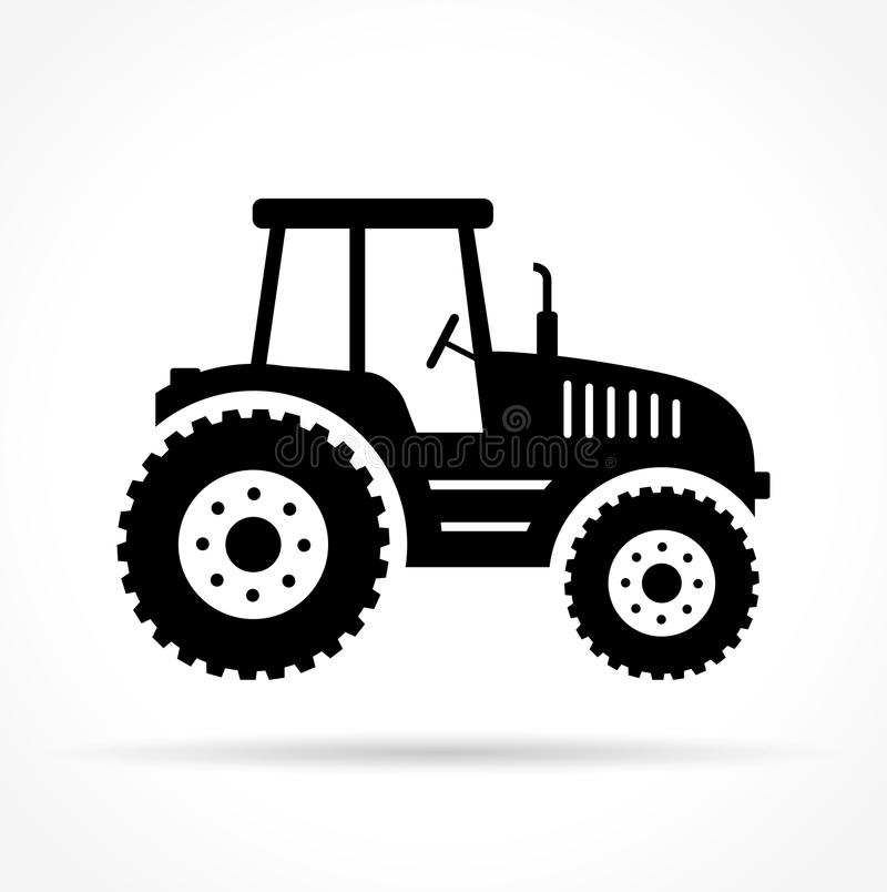 Tractor on white background. Illustration of tractor on white background royalty free illustration