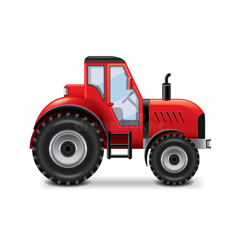 Tractor on white vector. Tractor on white photo-realistic vector illustration royalty free illustration