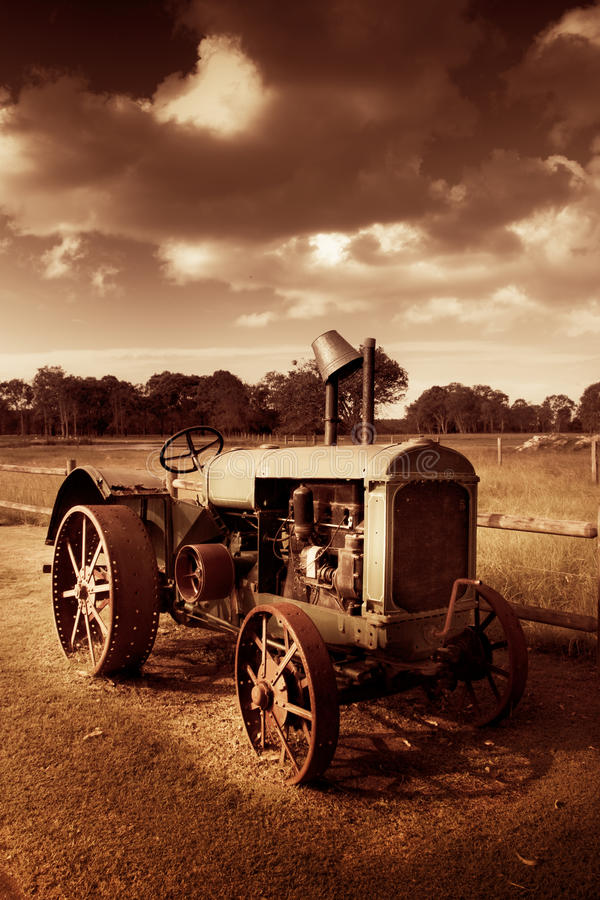 Download Tractor From Yesteryear stock image. Image of agricultural - 17114459