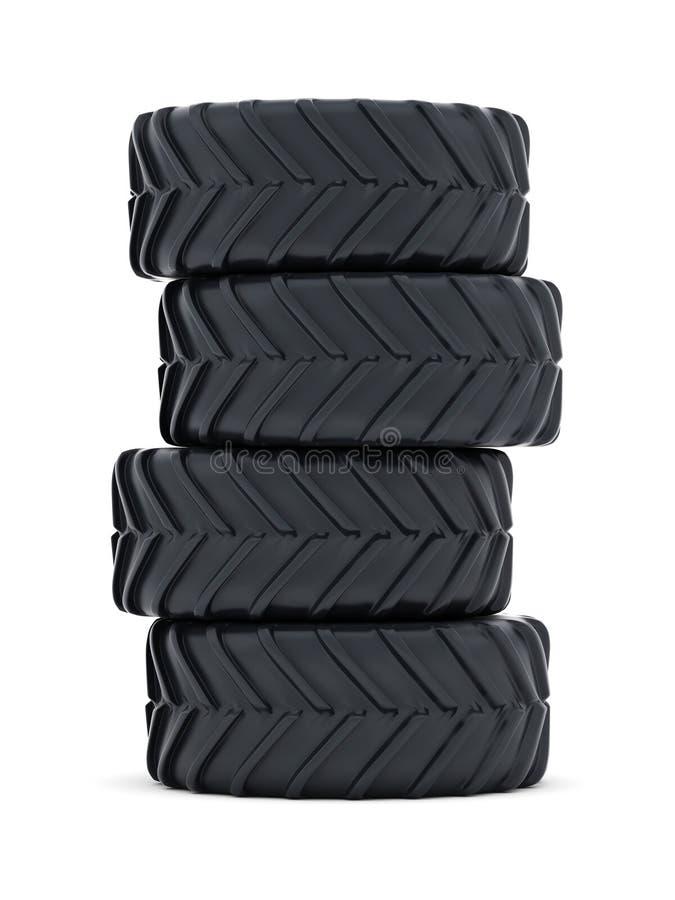Tractorbanden vector illustratie