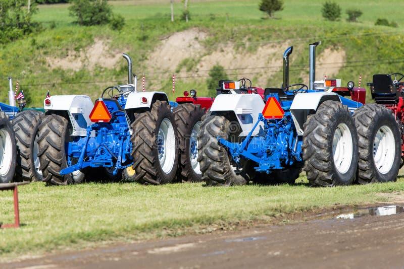 Tractoren op Vertoning royalty-vrije stock afbeelding
