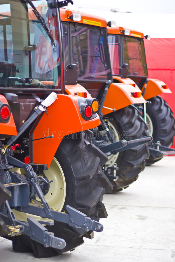 Tractors. At an agriculture exhibition stock photo