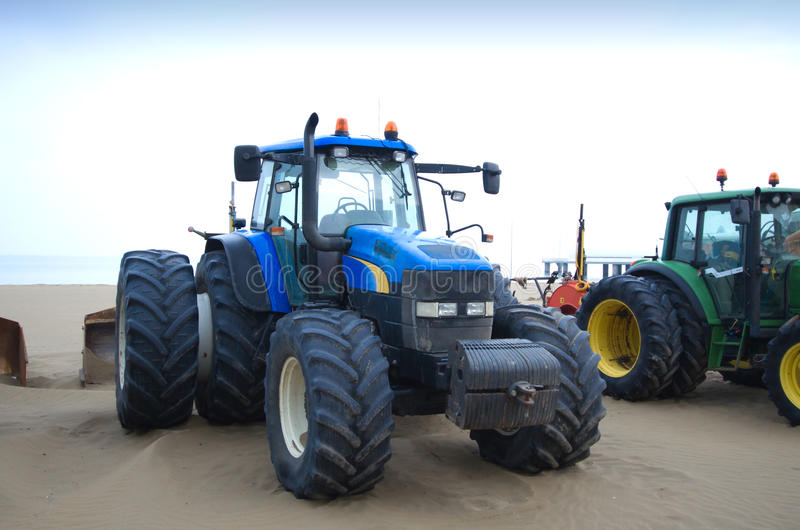 Download Tractors on the beach stock image. Image of machinery - 24528121