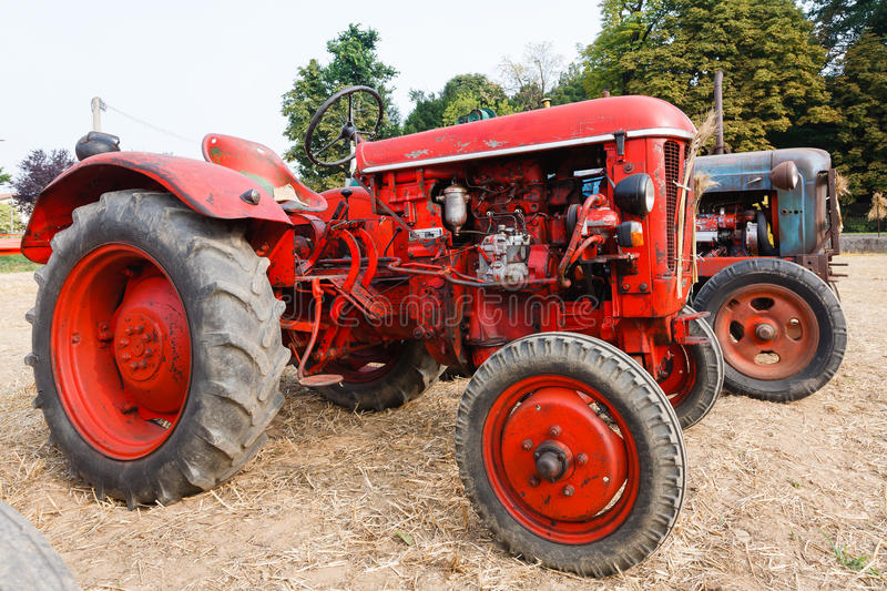 Tractors. Couple of old tractors, agriculture, rural life stock photo