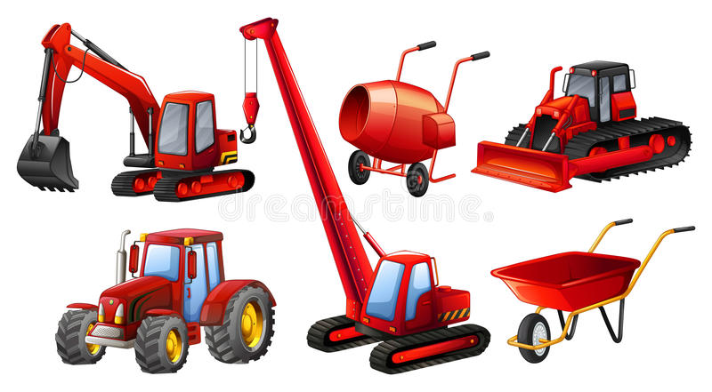 Tractors royalty free illustration