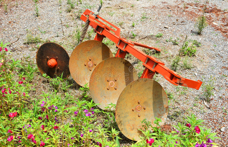 Tractors equipment. Farming work in thai royalty free stock images