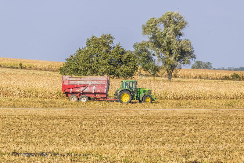 Tractors in Gye, France. Farm tractors in Gye, Lorraine on the northern France royalty free stock photography