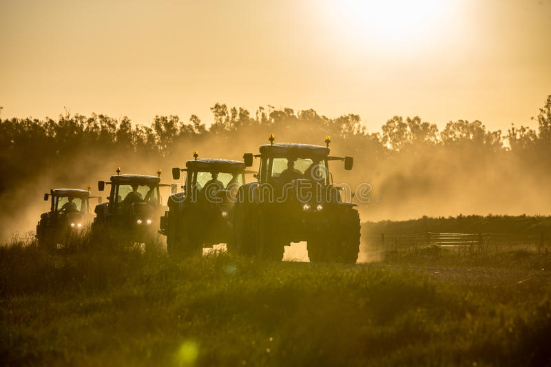Tractors. On the way in Australia royalty free stock photography