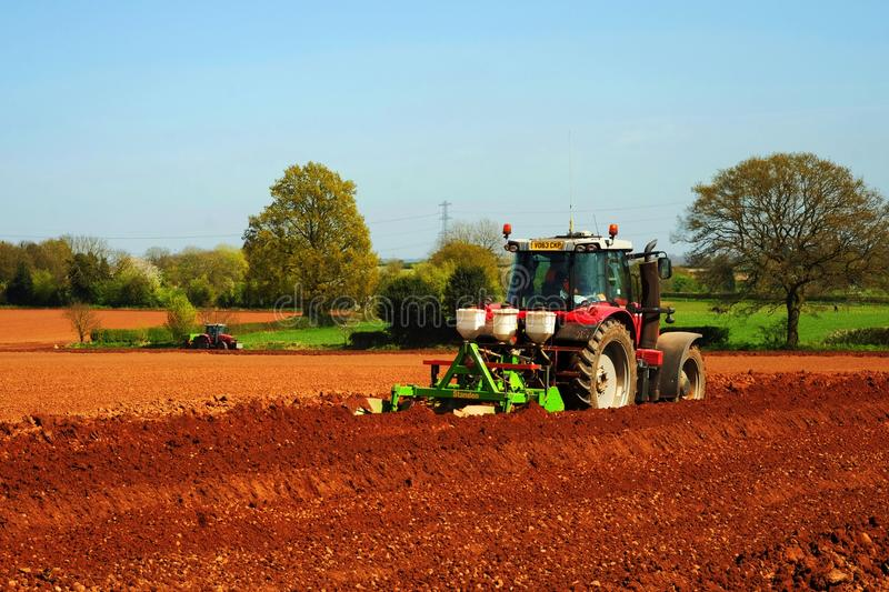 Tractors. Working on a farm in the english countryside royalty free stock photos