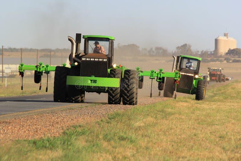 Tractorwegvervoer in Zuid-Afrika royalty-vrije stock foto