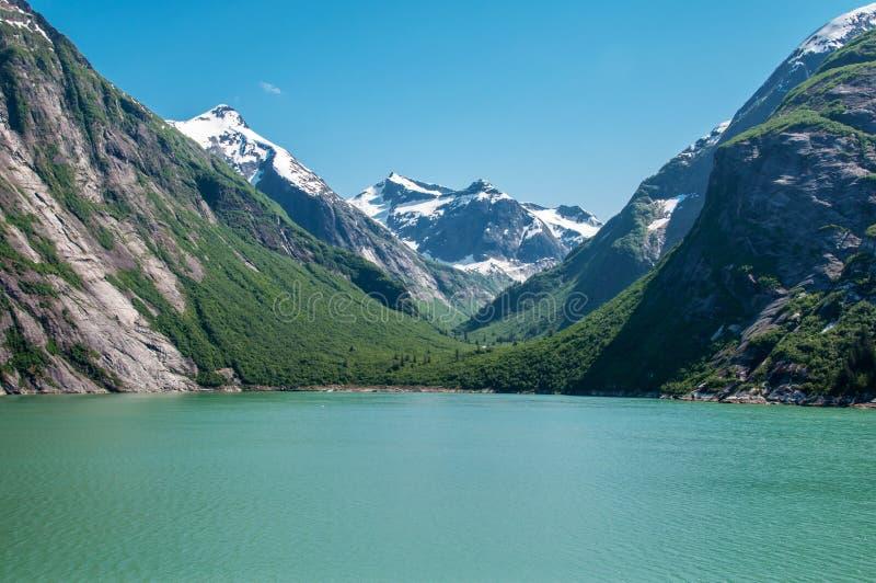 Tracy Arm Fjords, Alaska, stato unito dell'America fotografia stock libera da diritti