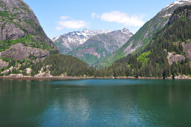 Tracy Arm Fjords, Alaska, United States, North America. Emerald water of Tracy Arm Fjords, Alaska, United States royalty free stock photos
