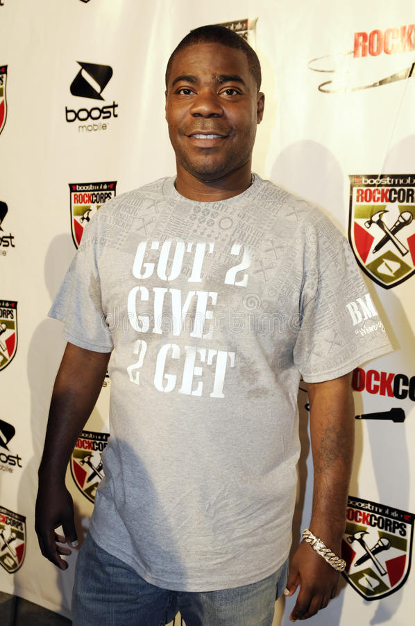 Tracy Morgan sur le tapis rouge. photos stock