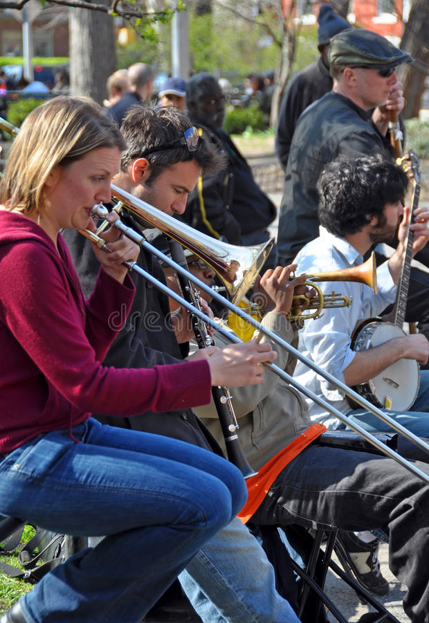 Trad. Jazz Band, Greenich Village New York stock photo