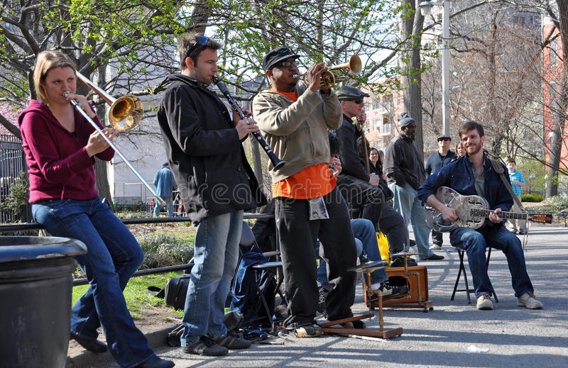 Trad. Jazz Band, Greenich Village New York stock image