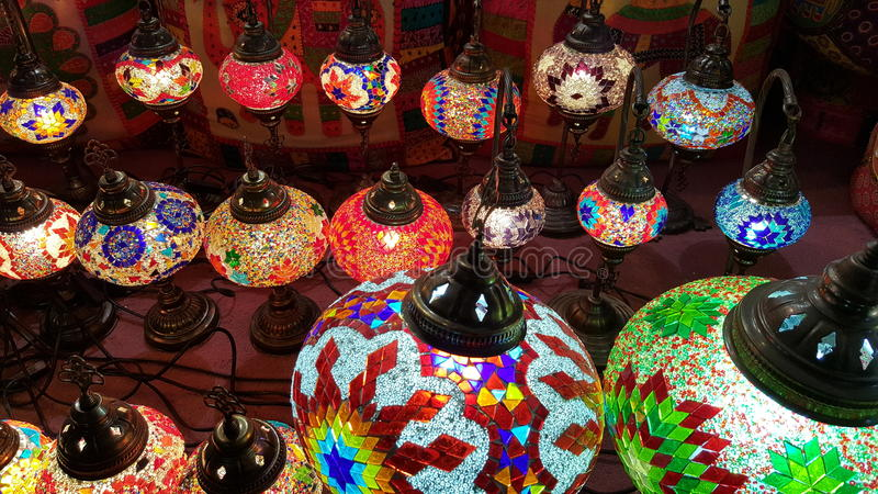 Tradational Colourful Lamps stock image