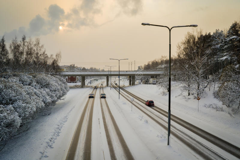 Traddic im Winter stockfotos