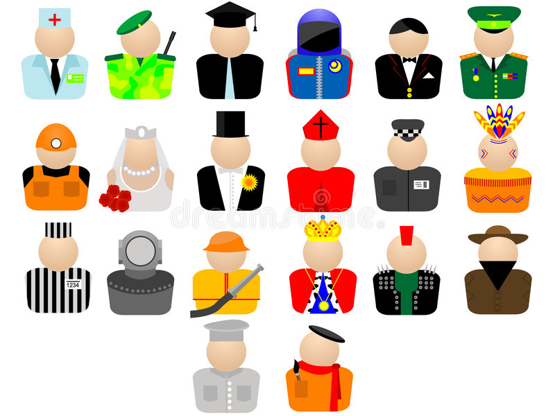Trade. Icons for web design - a trade and employment in a vector on a white background royalty free illustration
