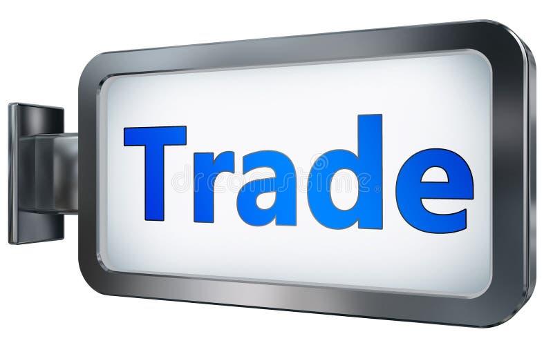 Trade on billboard background. Trade wall light box billboard background , isolated on white royalty free illustration
