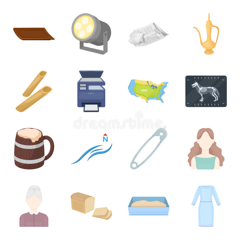 Trade, business, tourism and other web icon in cartoon style. dress, clothes, boutique icons in set collection. royalty free illustration