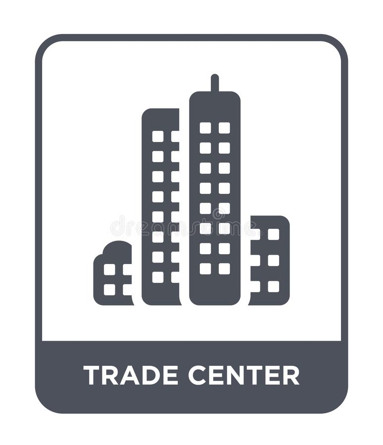 trade center icon in trendy design style. trade center icon isolated on white background. trade center vector icon simple and stock illustration
