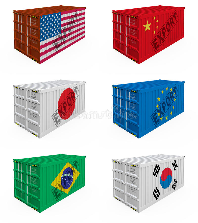 Trade containers royalty free illustration