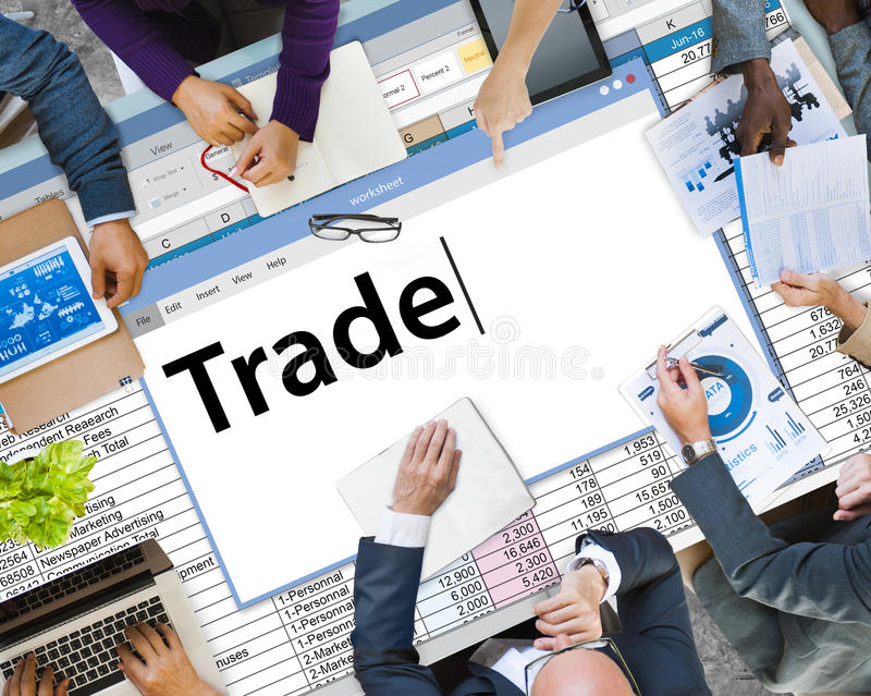Trade Exchange Import Export Business Transaction Concept royalty free stock image