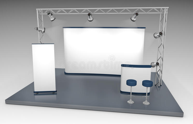 Download Trade Exhibition Stand stock illustration. Image of empty - 15736887