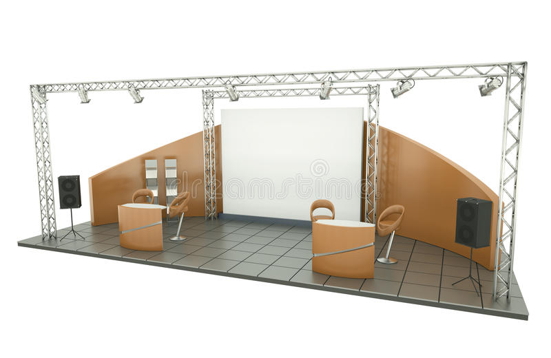 Download Trade Exhibition Stand stock illustration. Image of selling - 18019979