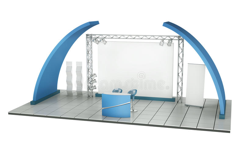 Trade Exhibition Stand Royalty Free Stock Photo
