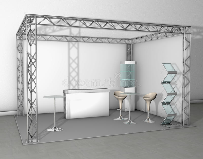 Download Trade exhibition stand stock illustration. Illustration of chair - 9922229