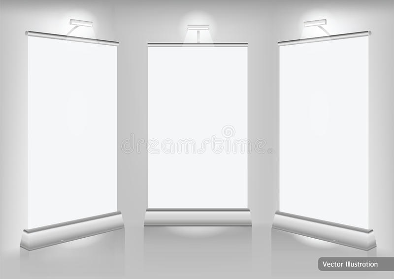 Exhibition Stand Vector Free Download : Trade exhibition stand display stock vector