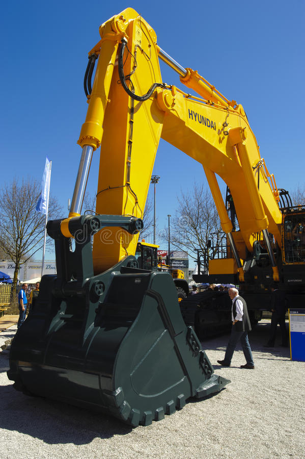 Trade fair for building machines. MUNICH, GERMANY - APRIL 15: the world biggest trade fair for building machines, titled BAUMA 2013, takes place with 3400 stock photos