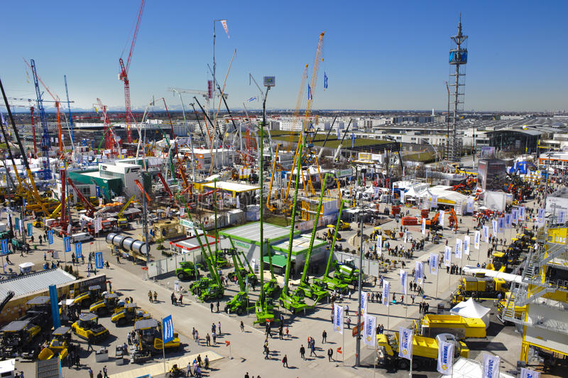 Download Trade Fair For Building Machines Editorial Stock Photo - Image: 30499563