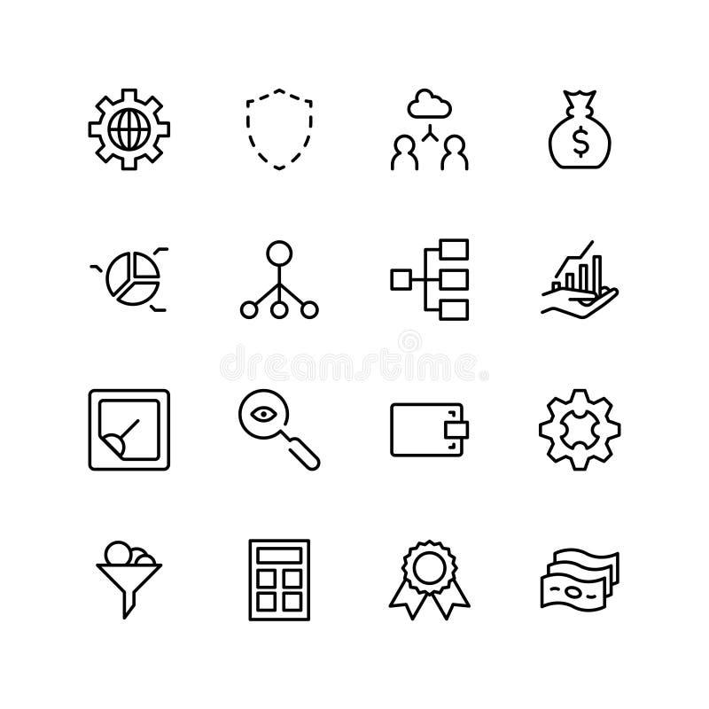 Trade flat icon. Set. Single high quality outline symbol of info for web design or mobile app. Thin line signs for design logo, visit card, etc. Outline logo of royalty free illustration