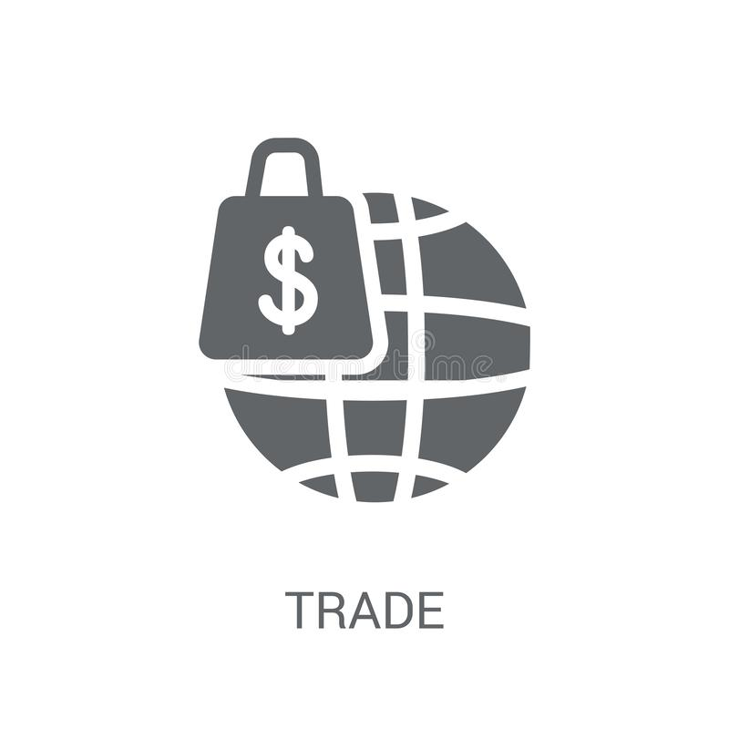 Trade icon. Trendy Trade logo concept on white background from e royalty free illustration